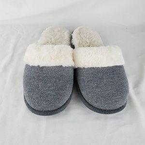 VS Size Medium Grey Fuzzy Slippers